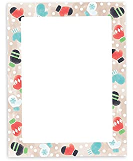 amazon com holiday stationary assortment poinsettia border design