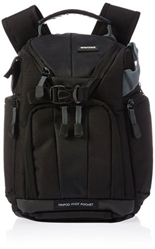 Vivitar Leather Case - Vivitar Series One Digital SLR Camera/iPad Sling Backpack - Small (Black)