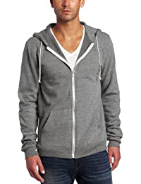 Men's Triblend Zip Front Hoodie, Heather Grey LG