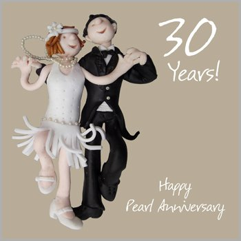 30th wedding anniversary card amazon co uk kitchen home