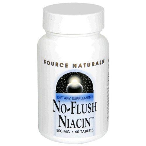 Source Naturals No Flush Niacin-, 500 mg, 60 comprimés (lot de 3)