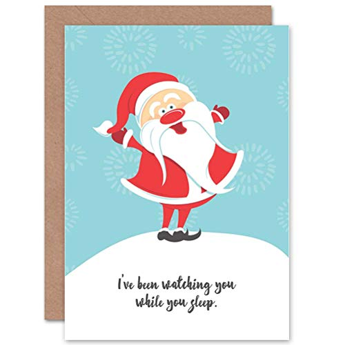 - Wee Blue Coo Card Christmas Xmas Merry Cheeky Santa Fun Present Gift