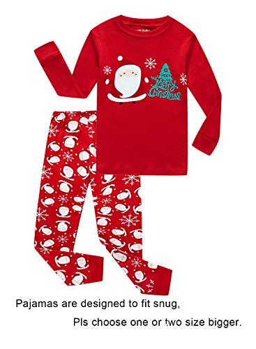 Christmas Santa Claus Tree Little Boys Long Sleeve Pajamas 100% Cotton Sleepwears Toddler Size 2T for $<!--$15.99-->