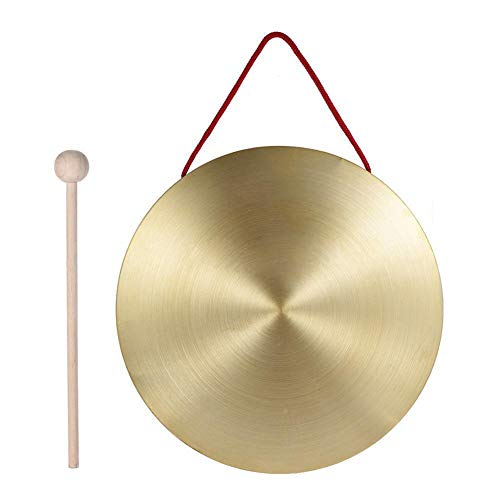 Lastnight Hand Gong Cymbals Brass Copper Chapel Opera Percussion with Round Hammer Stick