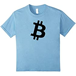 Kids Bitcoin B Symbol Crypto Currency T-shirt 10 Baby Blue