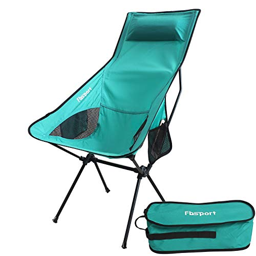 FBSPORT Lightweight Folding Camping Backpack Chair, Compact Heavy Duty Portable Chairs for Hiking Picnic Beach Camp Backpacking Outdoor Festivals
