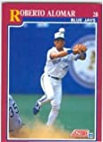 Roberto Alomar baseball card (Toronto Blue Jays World Series Champion) 1991 Score #44T