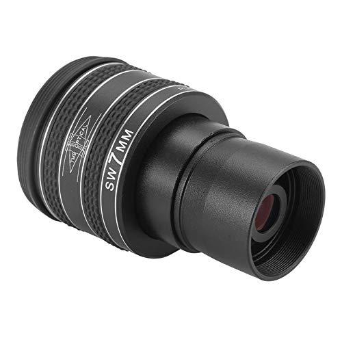 Negro 7 mm 1.25 Pulgadas Lente de Ojo planetario de 58 Grados Telescopio astron/ómico Ocular HD Telescopio de astronom/ía Gran Angular