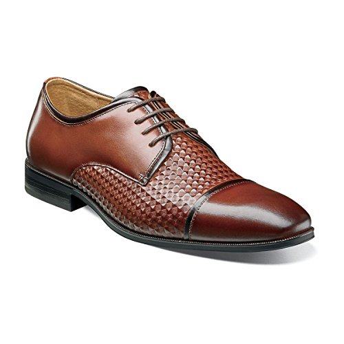 Stacy Adams Mens Forte Cap Toe Oxford Cognac Multi
