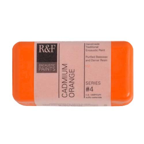 R&F Encaustic 40ml Paint, Cadmium Orange