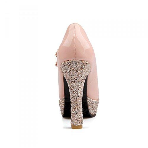 De TaiwánTreinta Una Impermeable OchoPink Tacon Zapatos Alto De Zapatos Y Luz Superficie Hebilla Y Cuero Primavera Nueva KHSKX De AxaqOnZZw