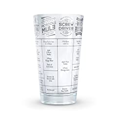 Mix it up with GOOD MEASURE! Fred's 16-ounce measuring glasses are printed with seven delectable cocktail recipes that are sure to turn you into the most-exacting mixologist. Available in seven individual styles: Whiskey, Gin, Rum, Tequila, V...
