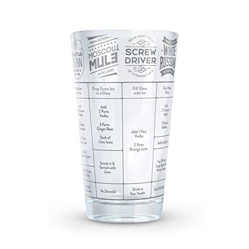 (Fred GOOD MEASURE Cocktail Recipe Glass, Vodka  - 5192622)