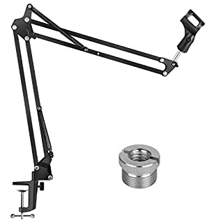 """InnoGear Microphone Arm, Upgraded Mic Arm Microphone Stand Boom Suspension Stand with 3/8"""" to 5/8"""" Screw Adapter Clip for Blue Yeti Snowball, Yeti Nano, Yeti x and other Mic"""