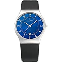 Skagen Men's 233XXLSLN Steel Perfect Blue Leather Watch