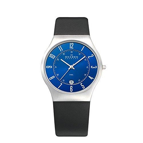 Skagen Men's 233XXLSLN Steel Perfect Blue Leather Watch