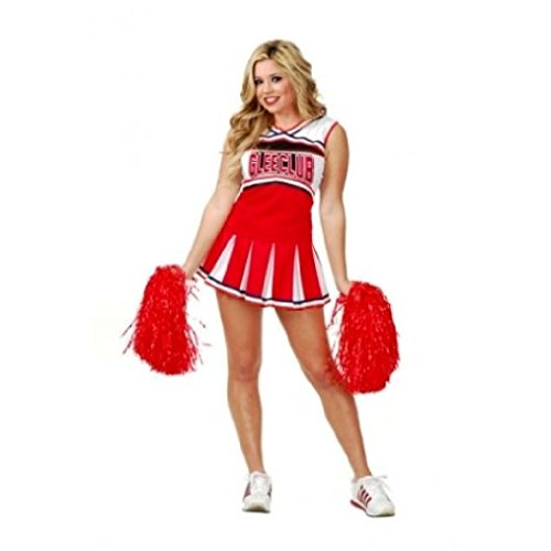 OvedcRay Adult Womens Ladies College Glee Club Cheerleader Football Rugby Varsity (Sexy Varsity Cheerleader Costumes)