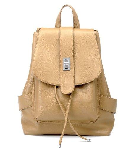 COOFIT Stripe Canvas Handbags Top Handle Cross Body Shoulder Bags Tote Handbags for Women (Khaki)
