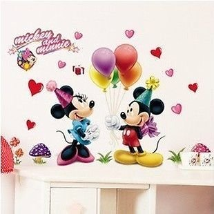 Minnie And Mickey MOuse Ballon Birthday Wall Sticker Great For Kids Room Part 84