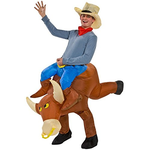 Kids Bull Costumes (Yeahbeer Inflatable Halloween Costume Adult and Children Carry On Animal Fancy Dress Costumes (Bull for Adult))