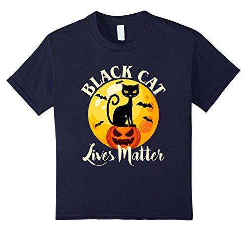 Kids Black Cat Lives Matter T-Shirt Halloween 12 (Halloween Love Superstitions)