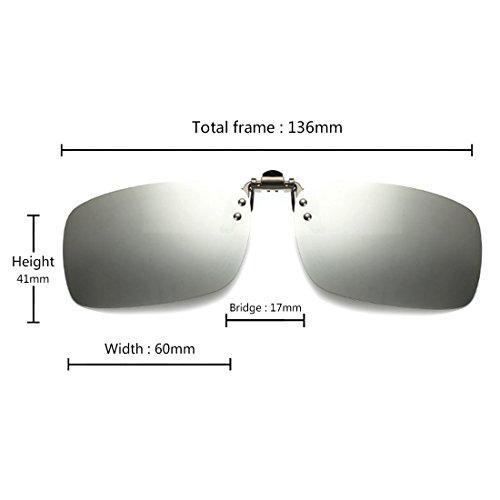 lunettes Mercure les des pour Blanc polarisé myopie de lunettes soleil pêche extérieure clip de conduite sur unisexe Huicai qw4aRxpvw