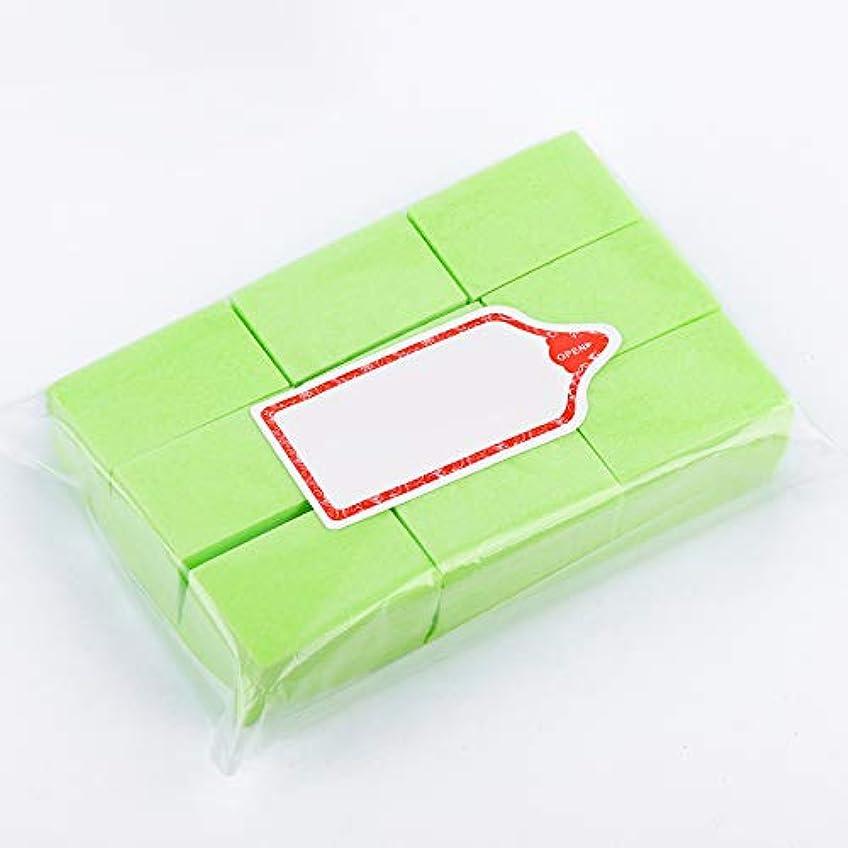 出身地政治家優勢LWBTOSEE ネイルワイプ コットンパッド 綿繊維 クリーニングパッド リムーバーワイプ 柔らかい 安全無毒 600枚入 全4色 (緑)