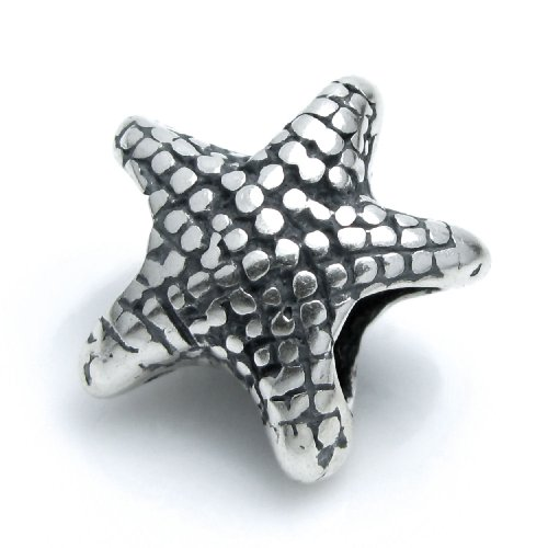 Dreambell .925 Sterling Silver Sea Starfish Bead For European Charm Bracelets