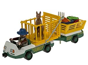 Amazon.com: Playmobil Zoo Staff With Service Vehicle: Toys
