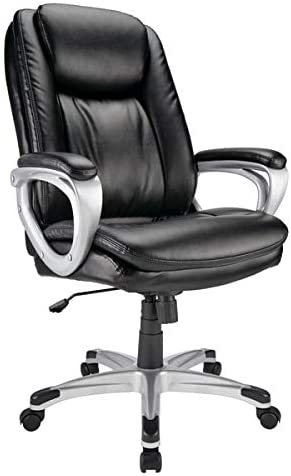 Realspace Tresswell Bonded Leather High-Back Chair
