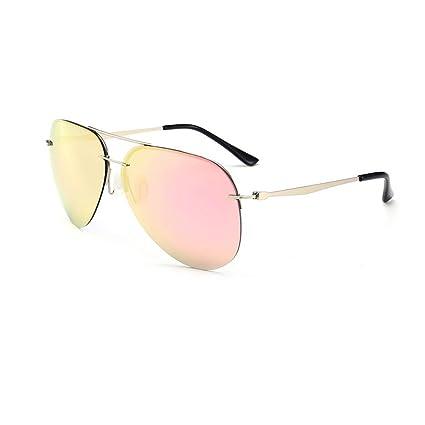 CJC Gafas de sol Polarizado Protección UV Anti reflejante Claridad ordenador personal Aleación Sin marco Diestro
