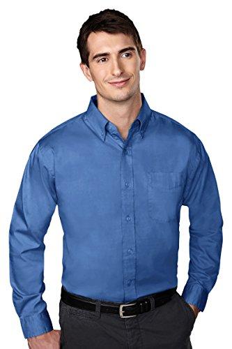Tri Mountain 780 Mens Chairman Wrinkle Free Oxford Shirt French Blue 6Xlt
