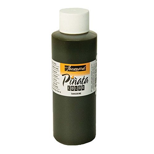 Pinata Tangerine Alcohol Ink that by Jacquard, Professional and Versatile Ink that Produces Color-Saturated and Acid-Free Results, 4 Fluid Ounces, Made in the USA by Jacquard
