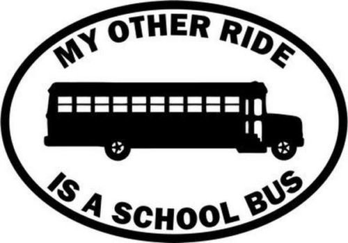 My Other Ride School Bus Driver Occupation Car Truck Windows Decal Sticker - Die cut vinyl decal for windows, cars, trucks, tool boxes, laptops, MacBook - virtually any hard, smooth surface ()