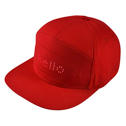 AGUIguo Hats for Men Baseball Trucker New Year's Party Hat Solid Color Night Field Hat (Red)