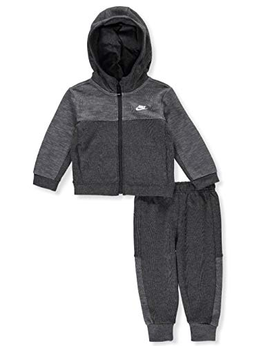 NIKE Baby Boys' 2-Piece Sweatsuit Pants Set - Charcoal Heather, 24 Months