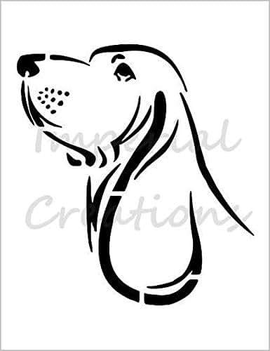 Amazon Com Basset Hound Dog Breed Face 8 5 Quot X 11 Quot Stencil
