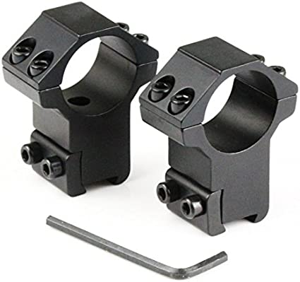 Riorand 2pcs Rifle Tactical High Profile 25 4mm 1 Scope Rings 11mm Dovetail Rail Mount Gun Scope Mounts Amazon Canada