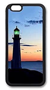 iPhone 6 Cases, Peggy's Cove Lighthouse Durable Soft Slim TPU Case Cover for iPhone 6 4.7 inch Screen (Does NOT fit iPhone 5 5S 5C 4 4s or iPhone 6 Plus 5.5 inch screen) - TPU Black