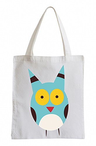 Raxxpurl Blue Owl Fun sacchetto di iuta