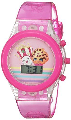 Shopkins Girl's Quartz Plastic Casual Watch, Color:Pink (Model: KIN4071)