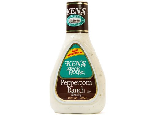 (Ken's Steak House Peppercorn Ranch Dressing 16 fl. oz. (pack of 3) total of 48 oz.)