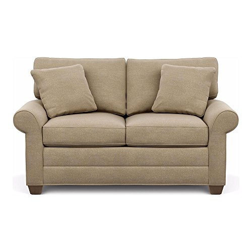 Ethan Allen Bennett Roll-Arm Sofa, 63″ Loveseat, Palmer Oyster Chenille Fabric Review