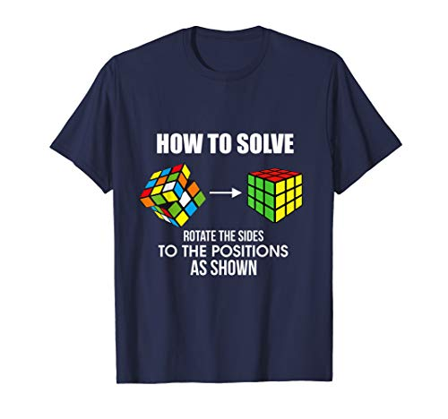 (How To Solve Puzzle Cube - Funny Cubing Skills T-Shirt)