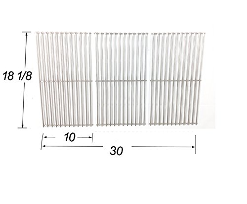 Stainless Steel Cooking Grid Replacement for Gas Grill Models Charbroil, Tuscany and Uniflame, Set of 3