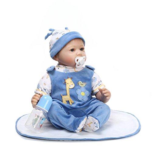 TOOPOOT 2018 Newborn Doll Kids Silicone Toy,Reborn Newborn Baby Doll Soft Lifelike baby doll for Boys Girls Gift (A)