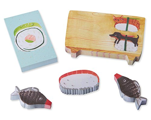 Die Cut Sticky Notes - bird & Quill by Papyrus Sushi Sticky Notes Set