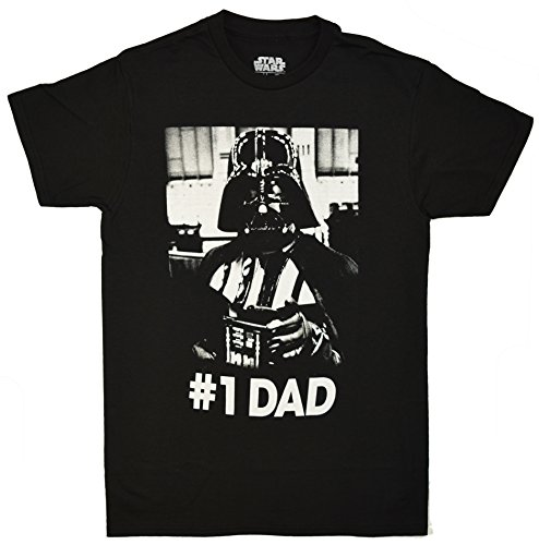 Star Wars Darth Vader Number One Dad T-shirt (Medium, Black) (Dad Number T-shirt One)