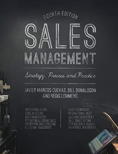 Sales Management: Strategy, Process and Practice (Key Account Management Best Practices)