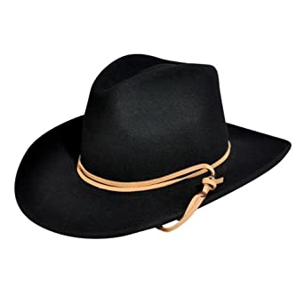 Wind River by Bailey Joe Eder LiteFelt Outback Hat Black at Amazon ... 857a9105628